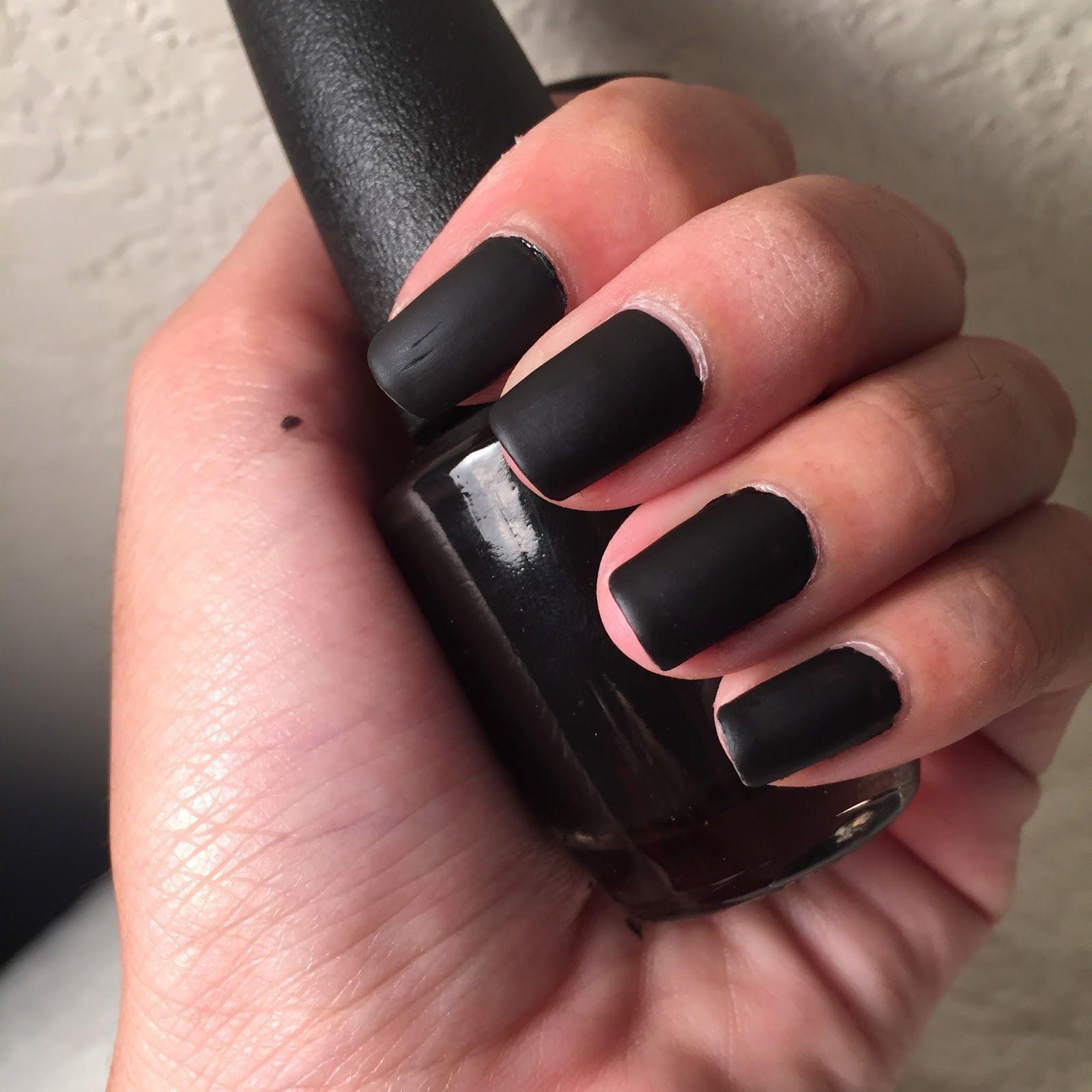 Matte Black Nail Polish   Thavy Time   { Beauty }   Pinterest ...