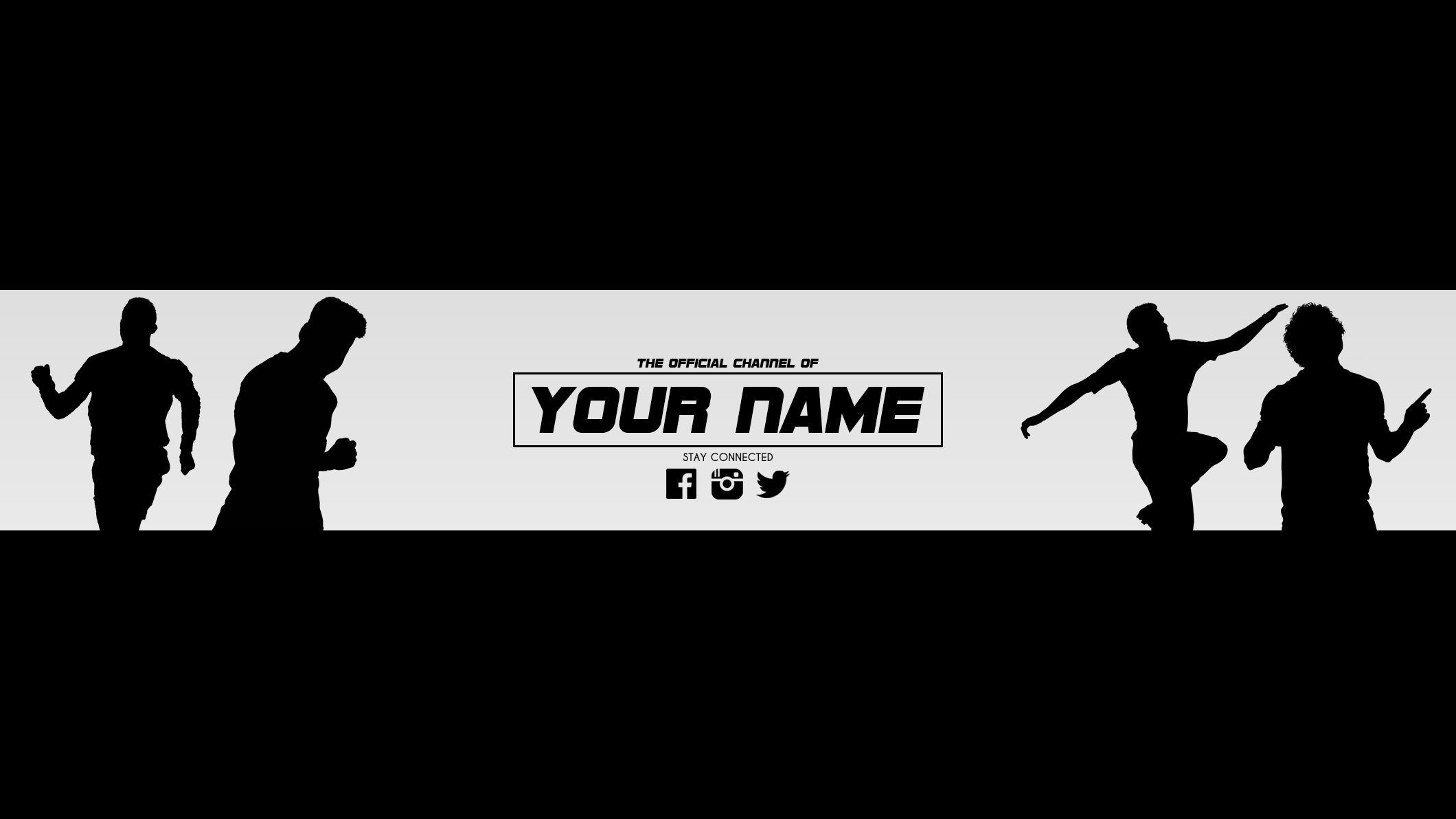 1b7693764 Free YouTube banner template for your channel just download the banner and  edit the name and