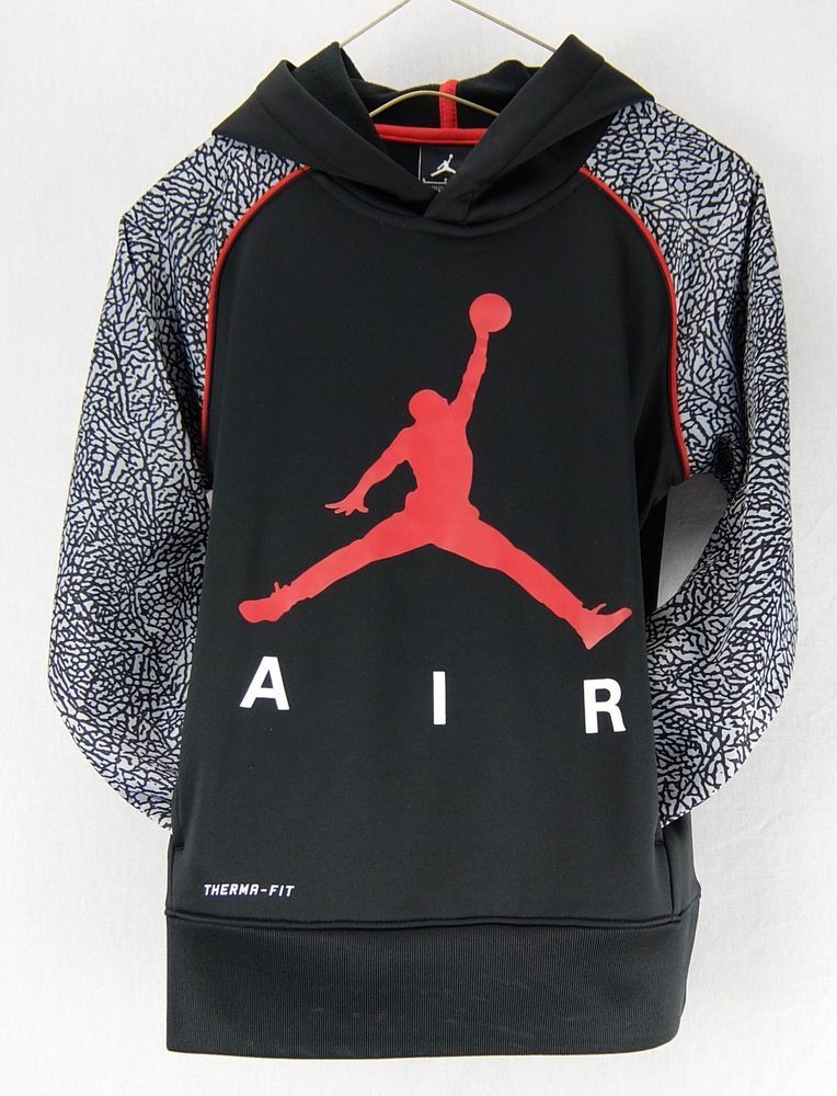 78843e8e5e94 Nike Jordan Elephant Print Black Therma-Fit Hoodie Jumpman Logo Size S M L  New  Nike  Hoodie  Everyday
