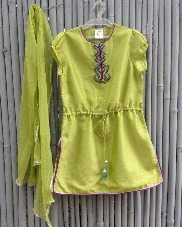 Pistachio Green Suit - kidswear - kid's lengha - kid's lehenga set ...