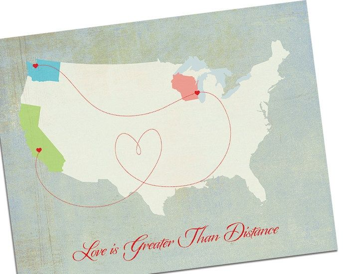 Long Distance Relationship Wedding Invitation: All Over The Map: 12 Map Wedding Decor Ideas