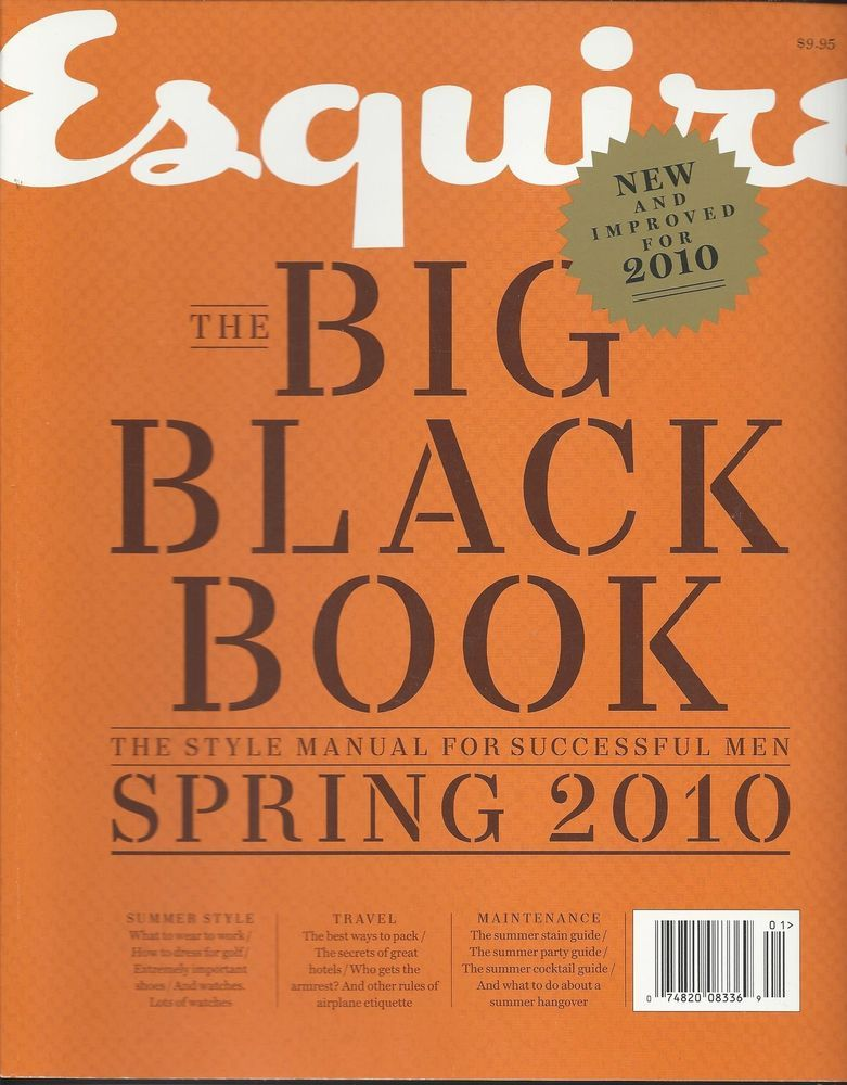 Esquire magazine Big Black Book Mens fashion Summer style Travel Maintenance
