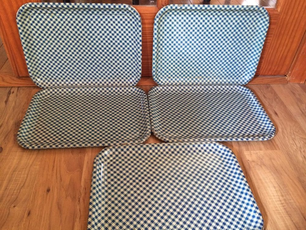 """These trays are in very good condition. These trays have normal wear due to age such as scratches & minor surface rust. They measure 14"""" x 10 1/2"""". 