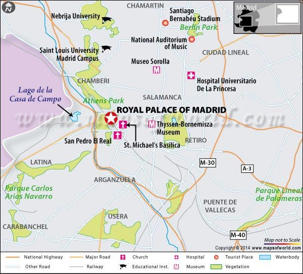 Location Map of Royal Palace of Madrid Spain Location map Royal