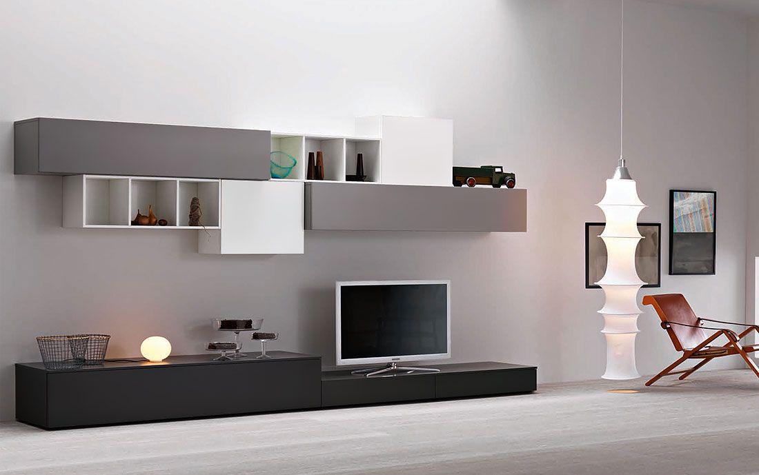 Wohnwand Lampo L2-36 - Möbel / Wohnzimmermöbel / Möbel für - designer mobel materialmix