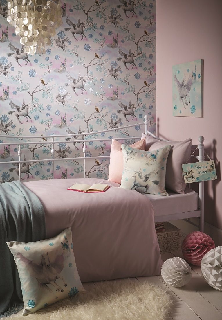 Fairytale by Arthouse - Ice Blue - Wallpaper - 667800 ...