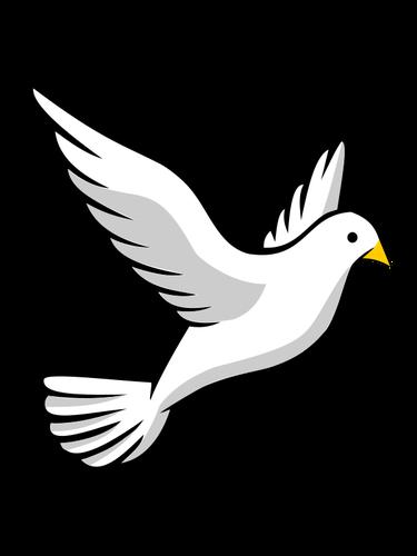 vektorbild einer fliegenden taube  taube zeichnung