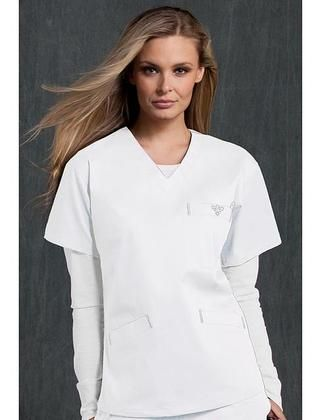 bbaa2440833 TAFFORD UNIFORMS: Med Couture Classic V-Neck Scrub Top, White, Large Buy  Now $24.99 Find at Faearch