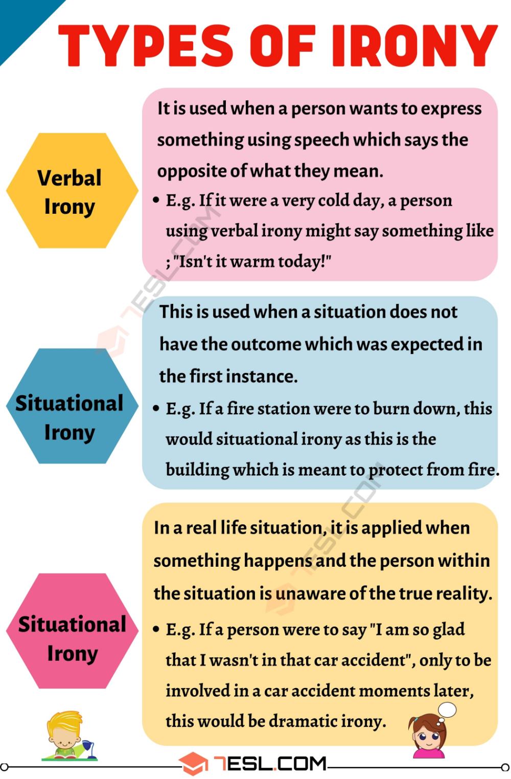 Irony Definition And 03 Type Of With Useful Example English Writing Skill Vocabulary Word Learn Words For The Paraphrasing