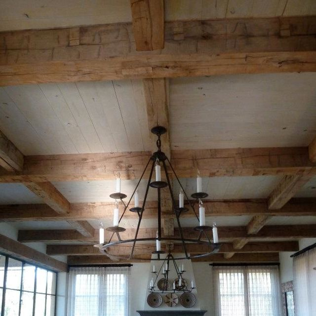 Antique Hand Hewn Ceiling Beams With