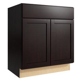 KraftMaid Momentum Kona Paxton 2-Door Base Cabinet (Common ...
