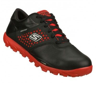 Tênis Skechers Men's Skechers GOgolf Black Red #Tênis #Skechers