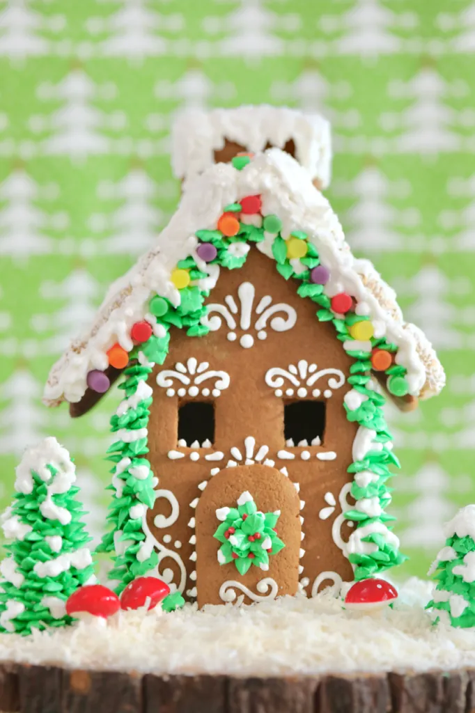 The Ultimate Homemade Gingerbread House Kit w/ Stencil