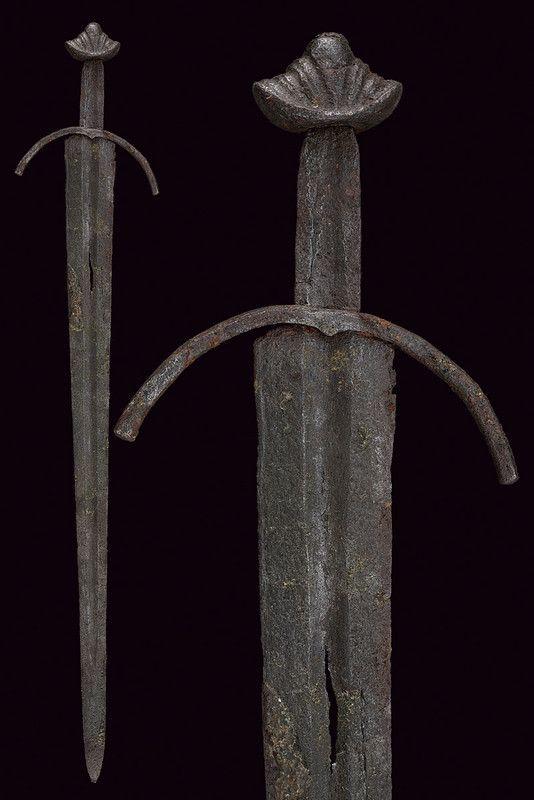 Un Oakeshott Tipo XII cavalleresche spada. provenienza: Nord Europa datazione: ultimo quarto del 13 ° secolo.