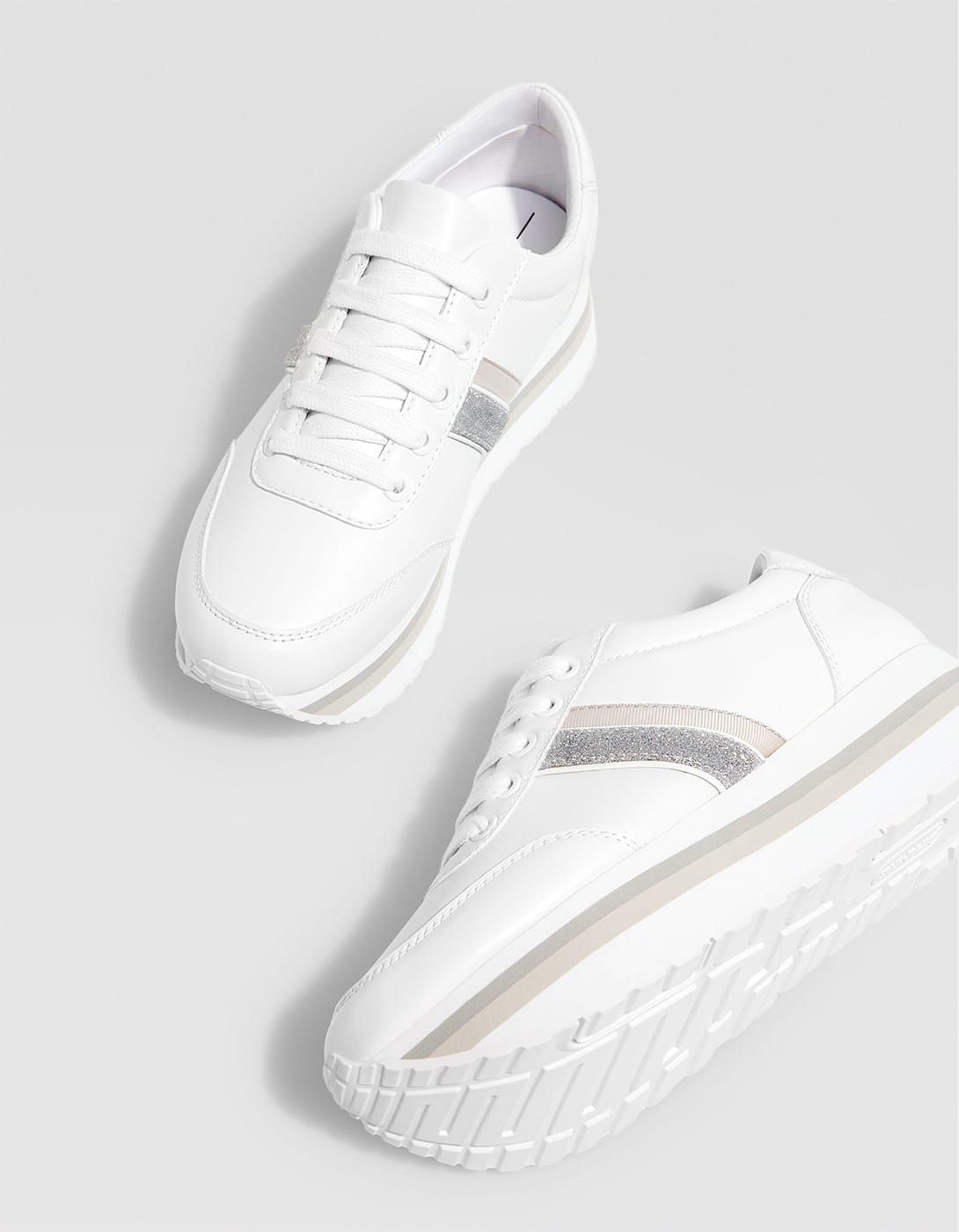 2af852f30 White contrasting platform trainers - Trainers