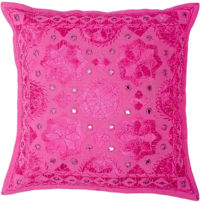 Attrayant Pink Decorative Mirror Work Pillow Cover For Couch, Pink Throw Pillow,  Accent PIllow,