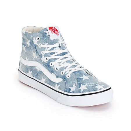 bd39c8d015c5d9 A high top silhouette and slimmer design with a washed star print canvas upper  add some classic style to any look