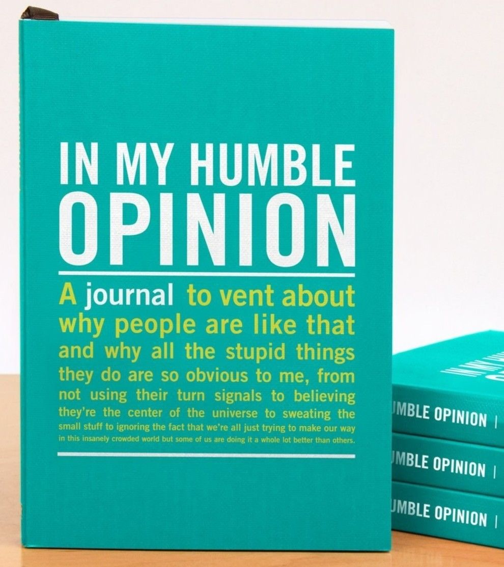 A mini journal to jot down nothumbleatall opinions a