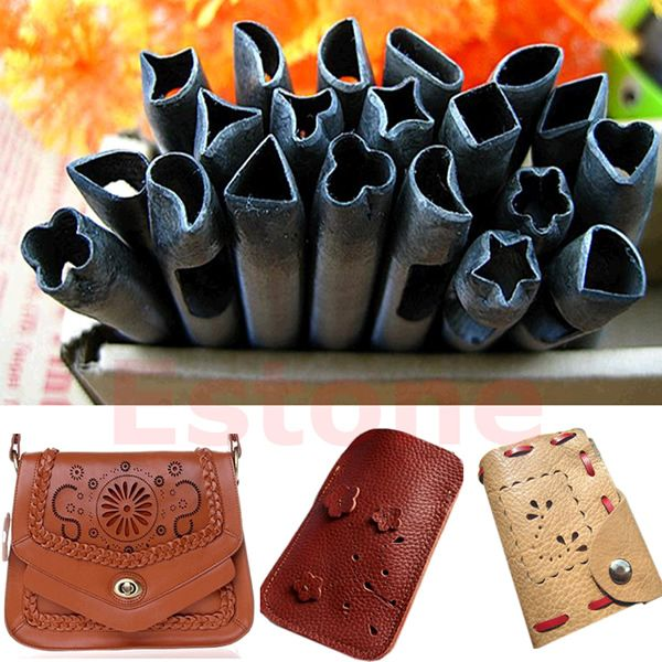 20 Patterns Hole Punch Leather Crafts Tools Handwork Diy For Belt