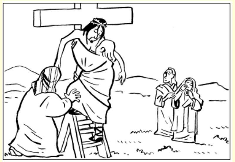 Pinto Dibujos: Muerte de Jesús para colorear | Crucifixion ...