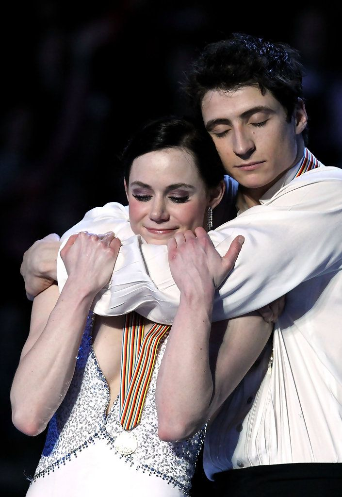 Canadian Gold Medalists Tessa Virtue and Scott Moir. They are adorable.
