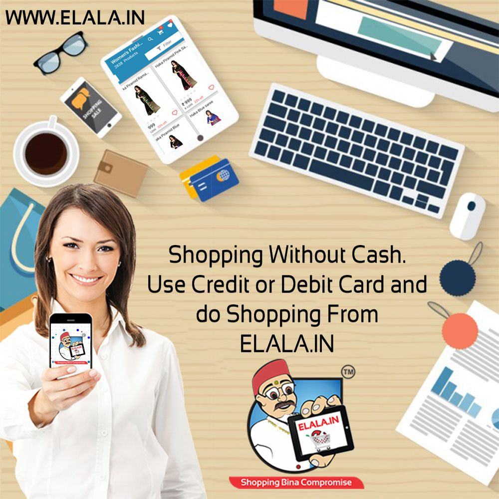 Shopping Without Cash. Don't Worry Use Debit Or Credit