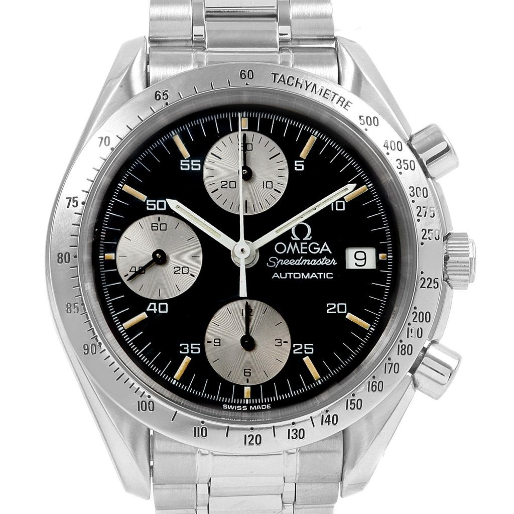 19282 Omega Speedmaster Date Chronograph Steel Mens Watch