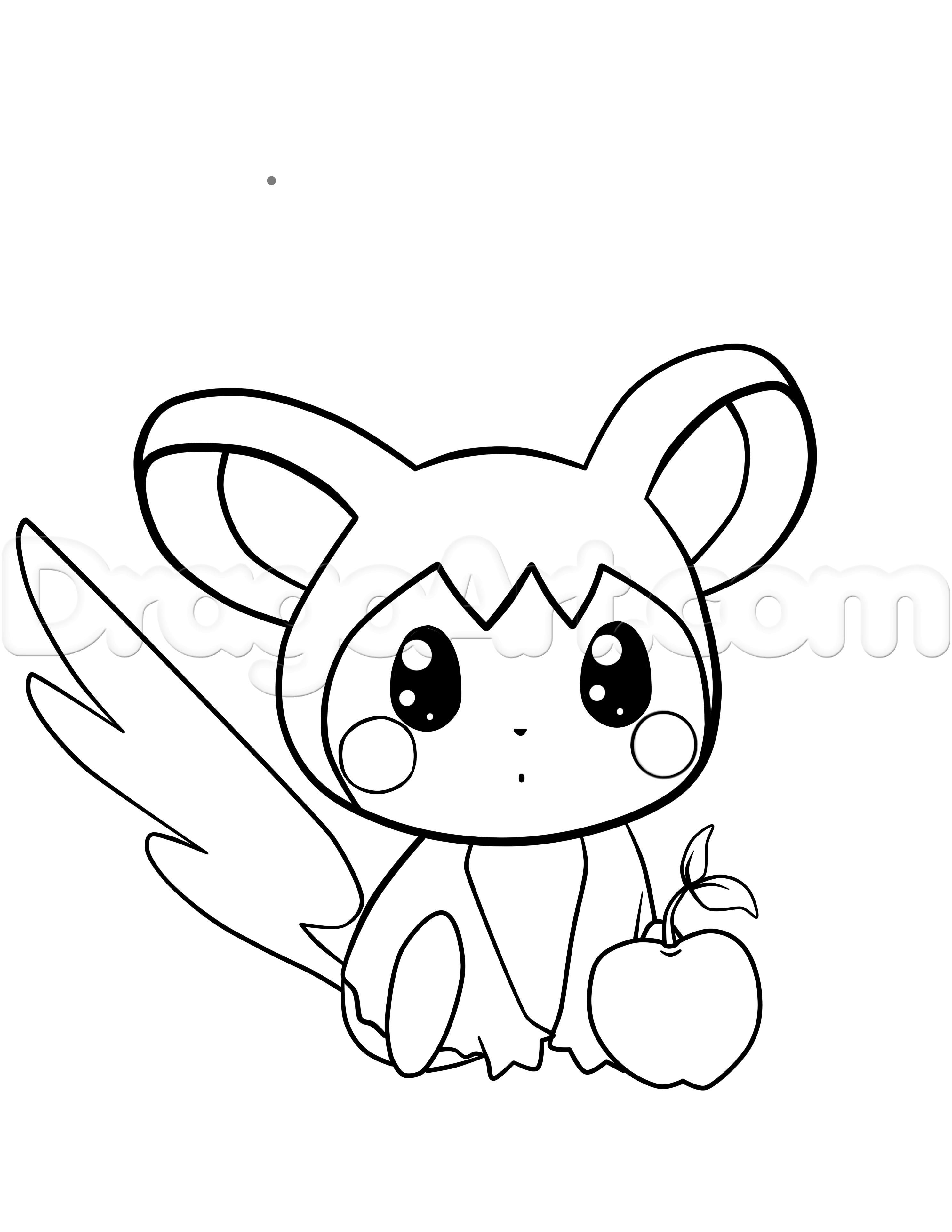 How To Draw Emolga From Pokemon Step By Step Pokemon Characters Anime Draw Japanese Anime Draw Manga Free Onl Drawings Character Drawing Pokemon Drawings