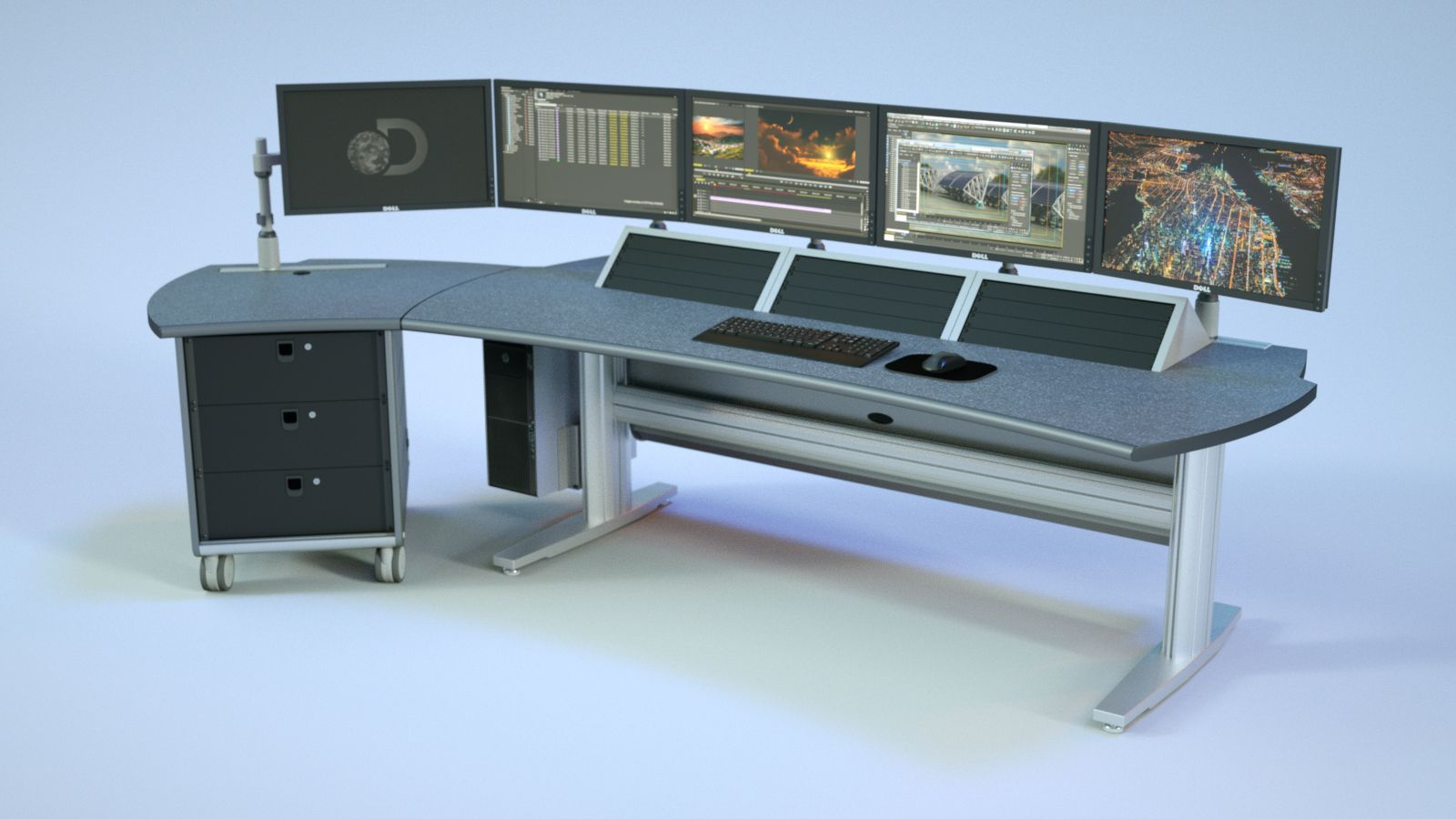 Creating Space For New Technology Technical Furniture For Broadcast Video Production Post Production Edit Security Create Space Process Control Furniture