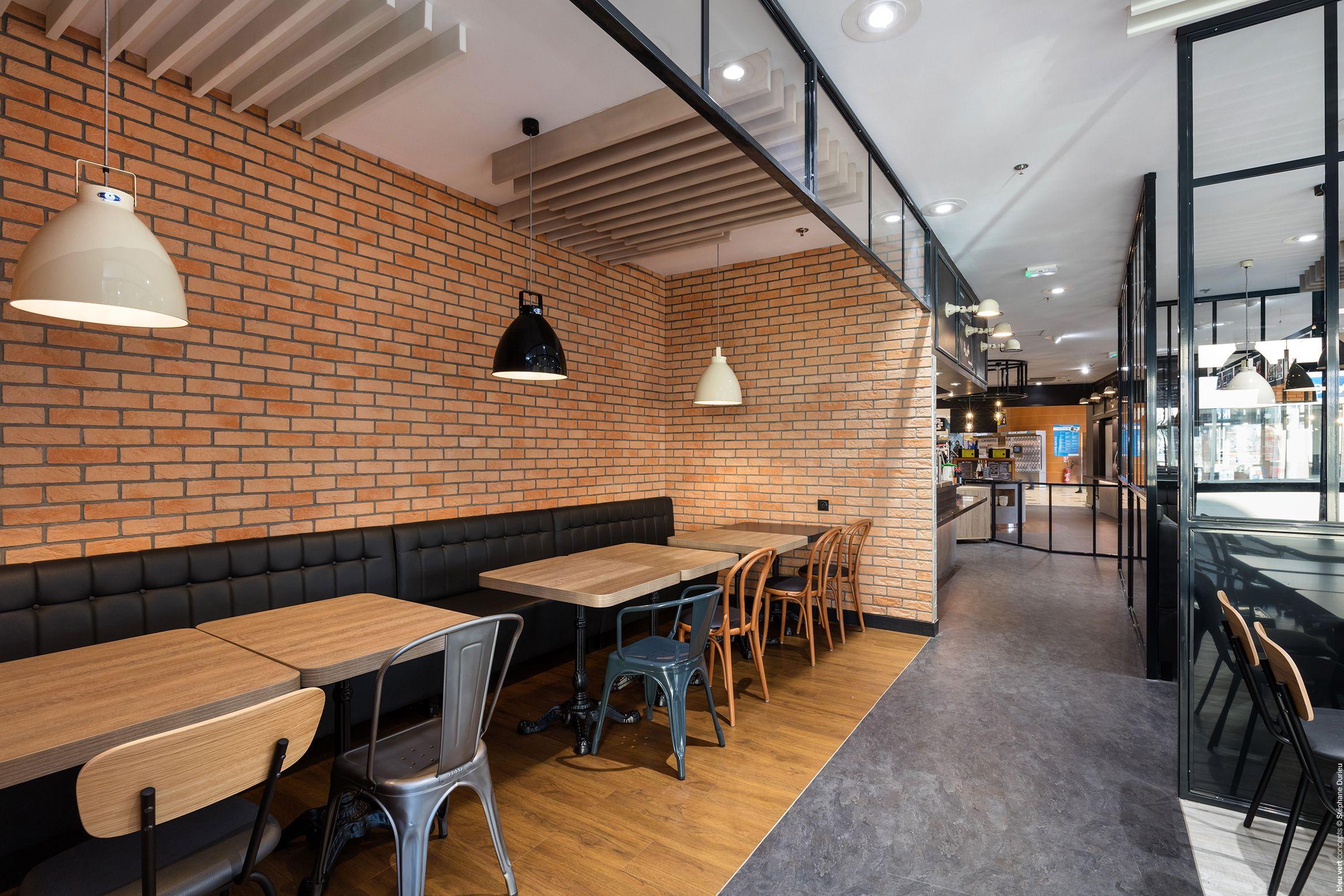 E.Leclerc Auxerre Aménagement restaurant ©BleuVertConcepts ...