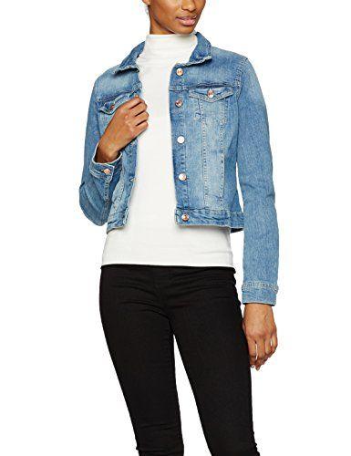 TOM TAILOR Denim Damen Jeansjacke Classic Denim Jacket Blau