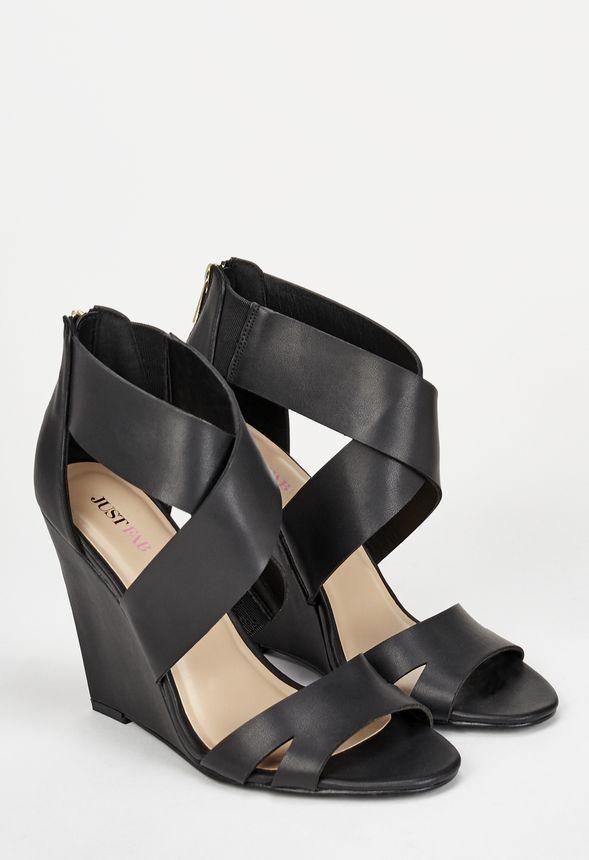 8b0f93a74 Eshley in Black - Get great deals at JustFab | Feet bling | Black ...
