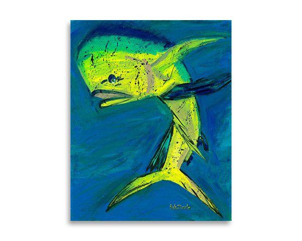 mahi mahi fish art print  fish art