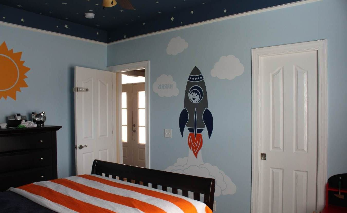 awesome space themed bedroom evan 39 s room pinterest