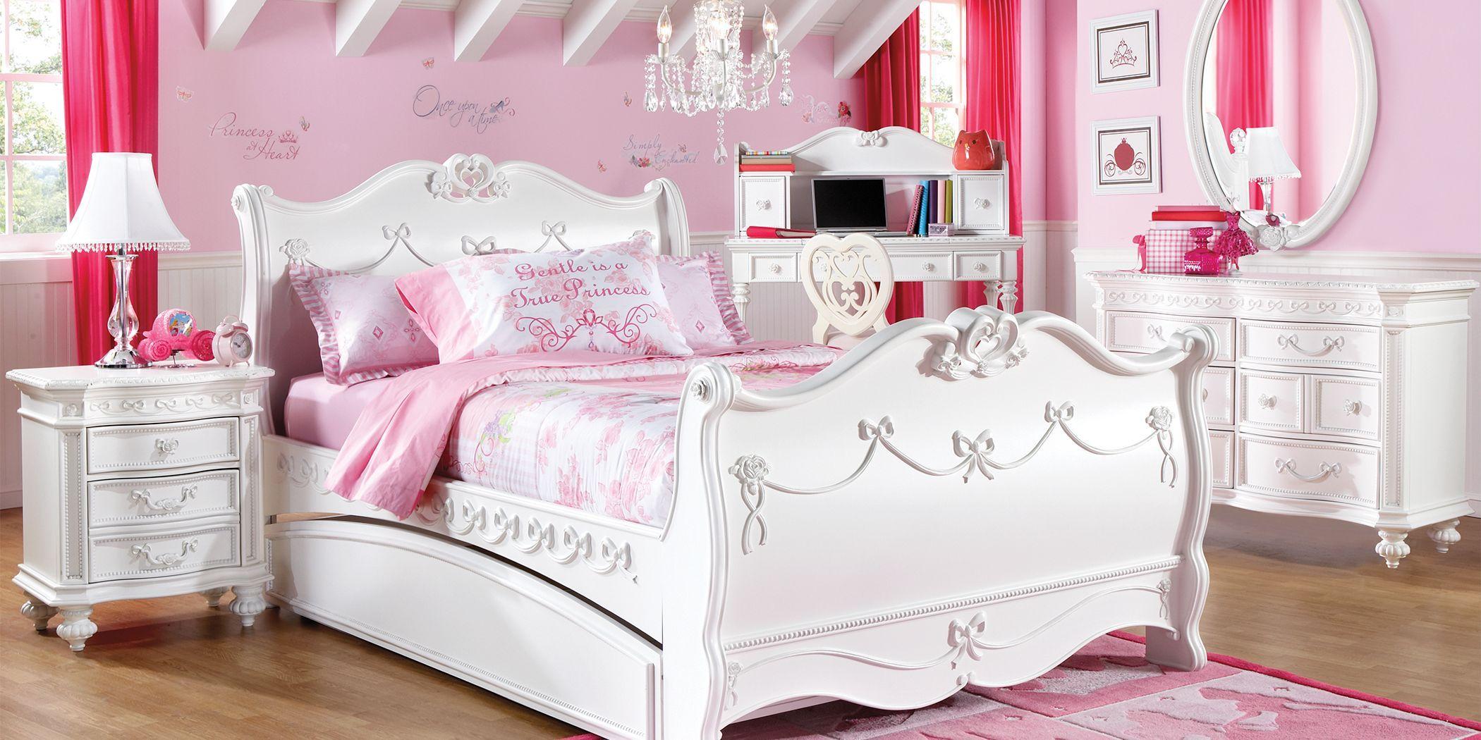 - Disney Princess Fairytale White 5 Pc Twin Sleigh Bedroom In 2020