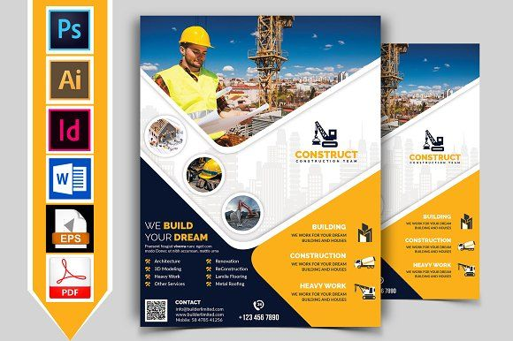 construction flyer template vol 09 by imagine design studio on