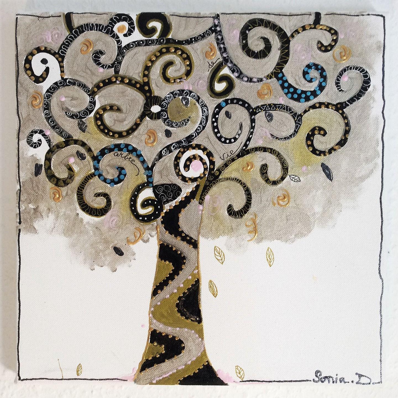 Klimt L Arbre De Vie Tableau tableau arbre de vie - tableau moderne - tableau decoratif