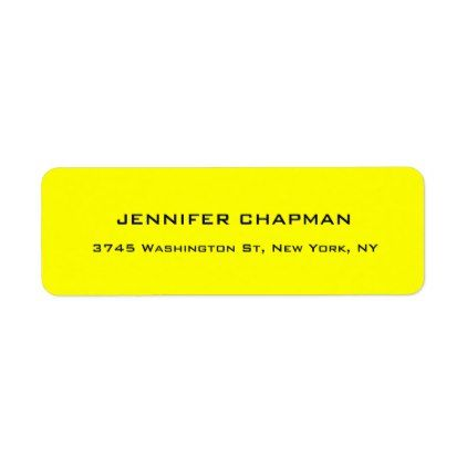 Modern Plain Elegant Professional Lemon Yellow Label Trendy - Plain address labels template