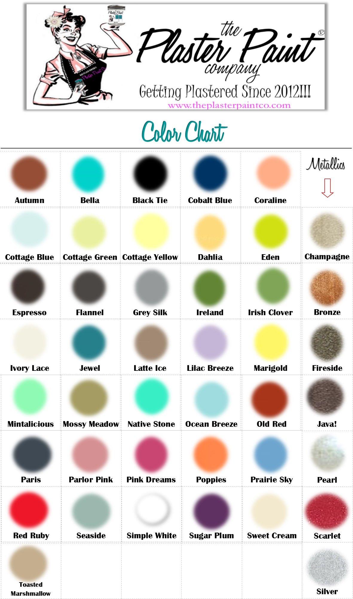 Plaster Paint Color Chart Plaster Paint Company