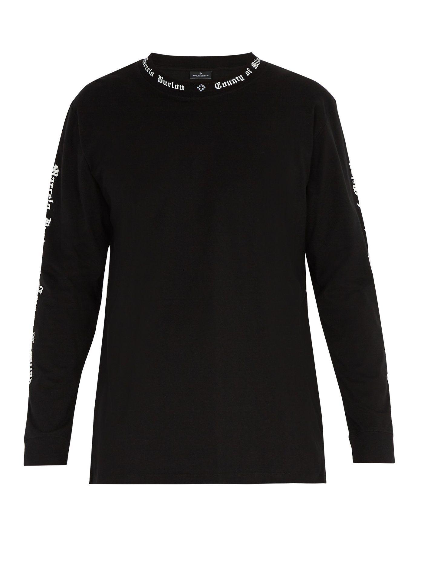 Logo-print long-sleeved cotton T-shirt Marcelo Burlon Cost Sale Online Fast Express Clearance 2018 Unisex nJVlwtyS