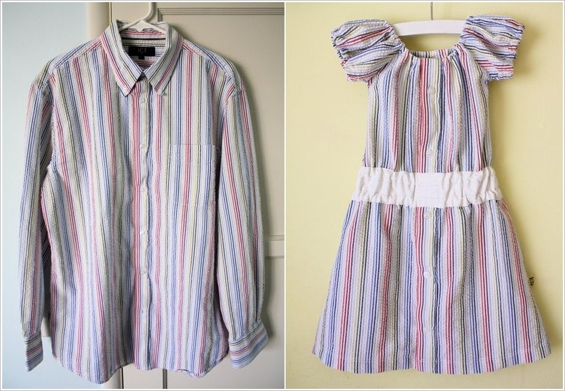 aa8e67a5e Men s Shirt Can be Refashioned into Your Little Girl s Dress ...