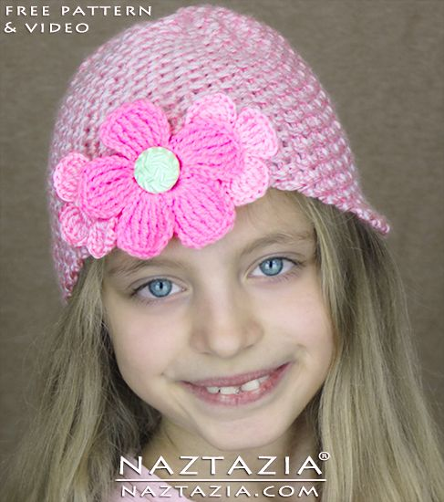 DIY Free Pattern Easy Simple Beginner Crochet Hat with Size Chart ...