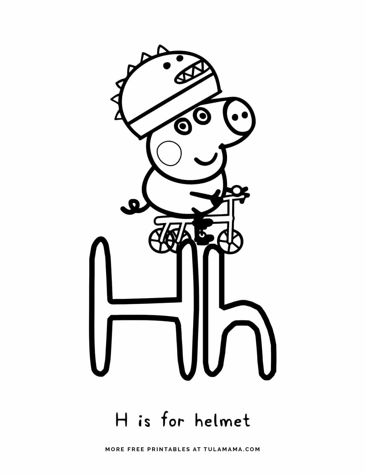 Free Printable Peppa Pig Abc Coloring Pages For Preschoolers Abc Coloring Pages Abc Coloring Alphabet Coloring Pages [ 1536 x 1187 Pixel ]
