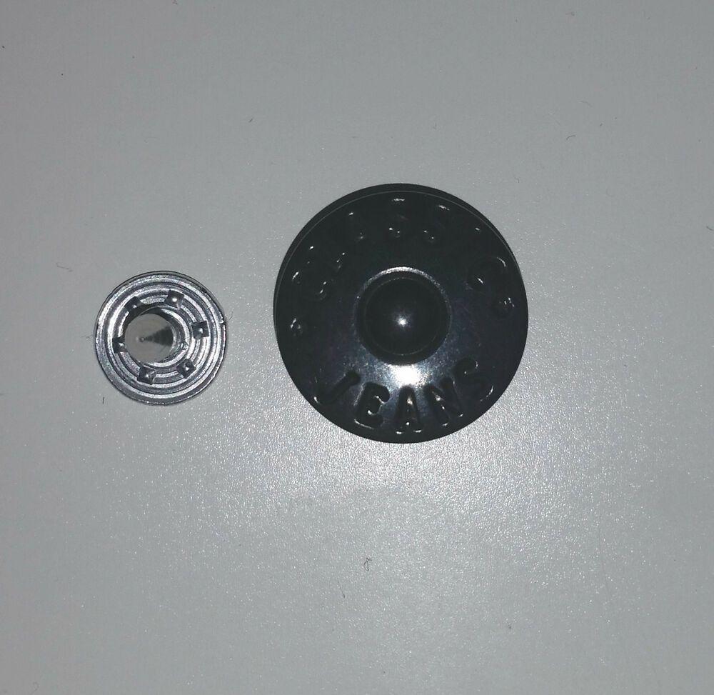 100 XL Metallknöpfe Patentknöpfe 20mm silber Jeansknöpfe