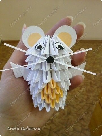 Little Mouse (Chuột con) | 1  3D Origami Animals | Origami mouse