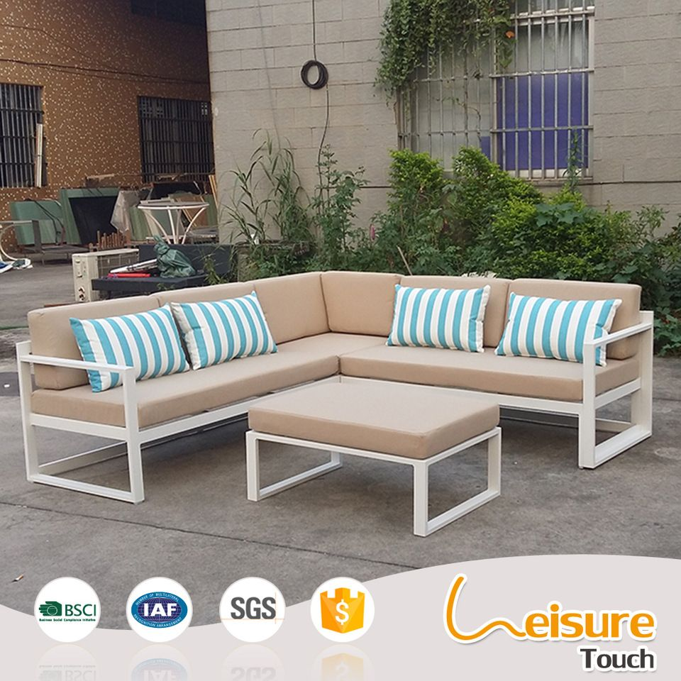 Modern Aluminium Outdoor Garden Sofa Set Swimming Pool Leisure Coffee Shop Outdoor Pool Furniture Modern Outdoor Sofas Aluminium Outdoor Furniture