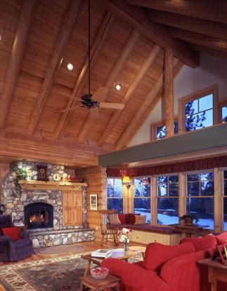 This One Story Home Features Vaulted Ceilings In Almost Every Room And An Open Floor Plan The