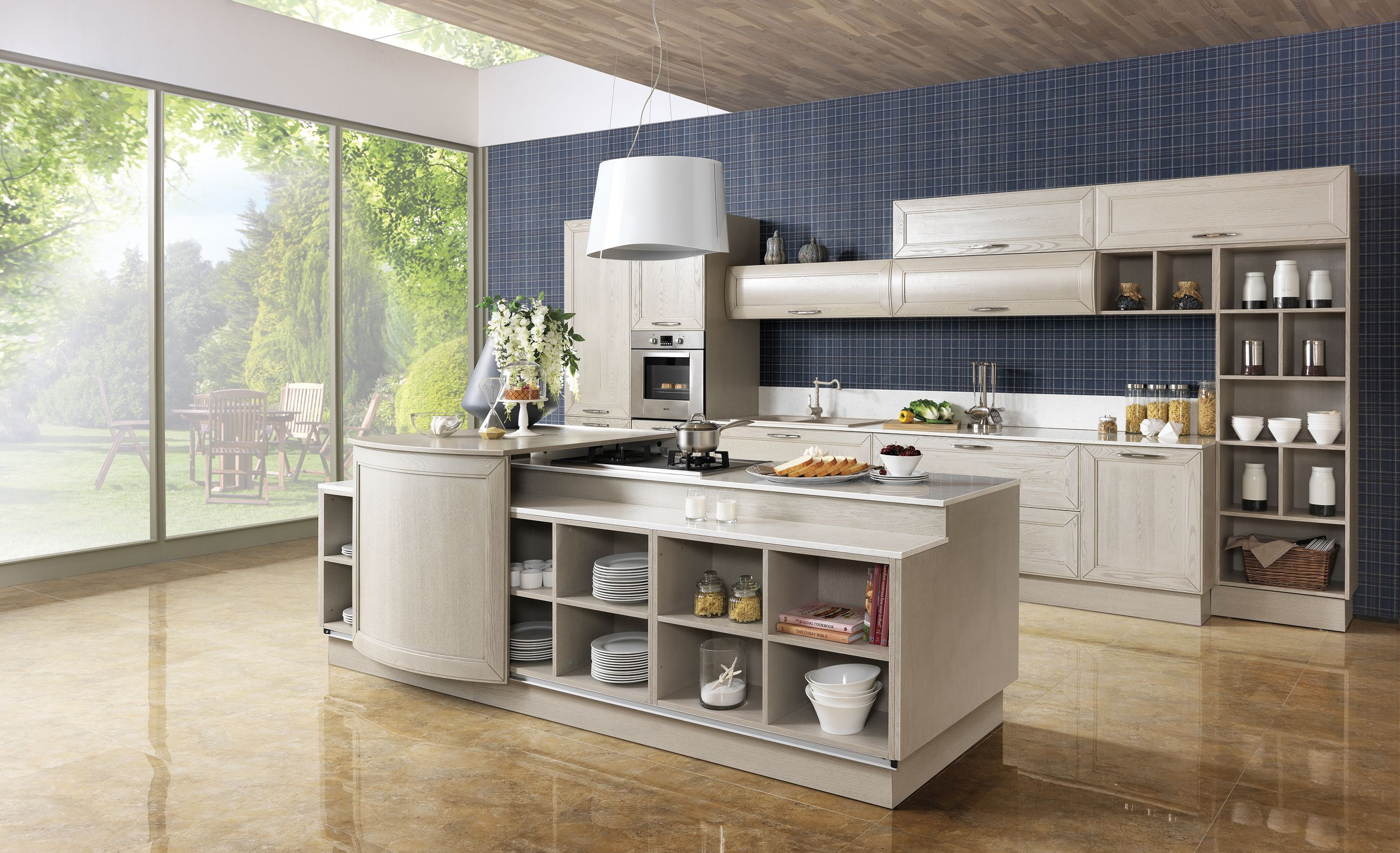 2014 Solid Wood Italy Kitchen Cabinet Luxury Series Oppein New