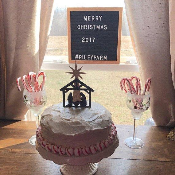 Nativity Cake Topper Happy Birthday Jesus Products Pinterest