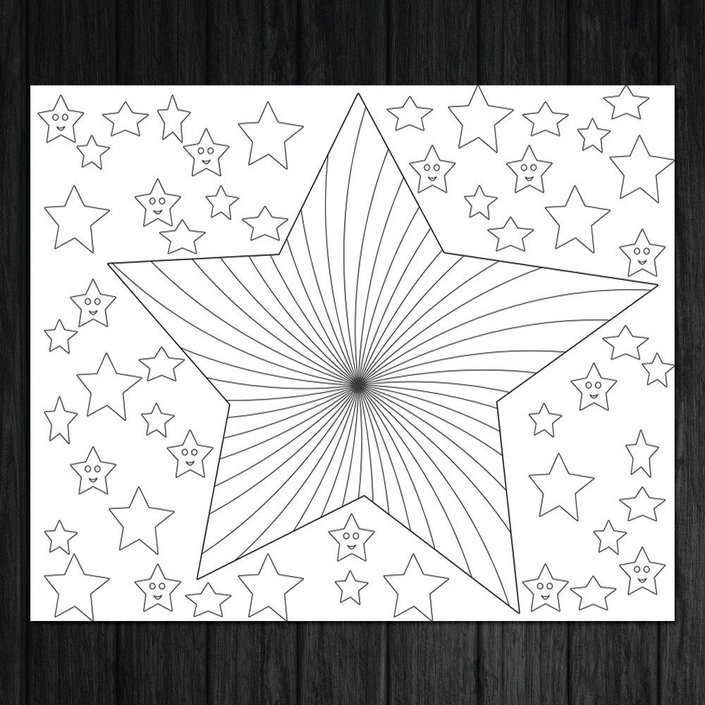 stars illustration stars coloring page by christinedigitalpics
